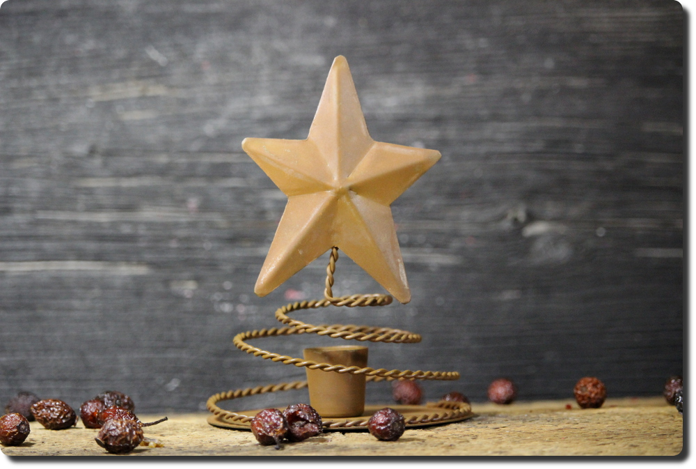 Coiled Star Candle Stand